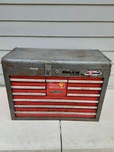"Vintage Craftsman 10 Drawer Top Tool Chest Box 26"" x 19"" x 12"""