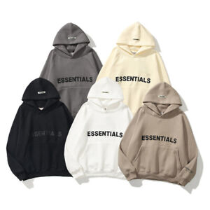 Man's Essentials Three-Dimensional Letters Oversize Hoodie Sweater 2021NEW