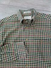 ORVIS long sleeve FLANNEL gingham plaid MEDIUM shirt