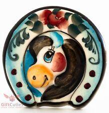 Lucky horseshoe magnet decorative talisman gzhel horse obereg pendant
