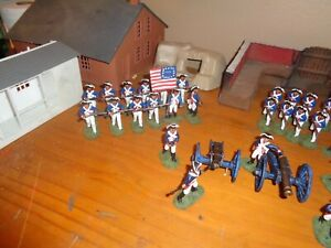 Painted 1/32 plastic AWI Continental/ militia/artillery/ native Infantry