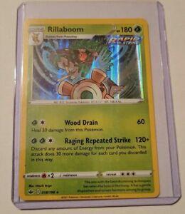 Rillaboom 18/198 Rare Reverse Holo Pokemon Sword Shield Chilling Reign TCG 2021
