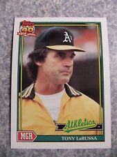 L#606 1991 Topps #171 Tony LaRussa, Oakland A's.  NrMt condition