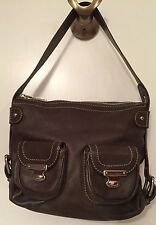 MARC JACOBS Italy Green Leather Shoulder Bag Silver tone Hardware