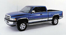 """fit:1994-1997 Dodge Ram Extended Cab Long Bed Rocker Panel Trim 5.75"""" Stainless"""
