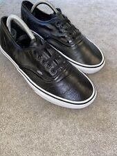Black Vans Leather Trainers Size UK 8