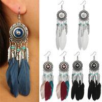 Bohemian Feather Leaves Tassel Earrings Dangle Boho Drop Dangle Earring ue