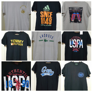 HAND PICKED BRANDED OVERRUNS T- SHIRTS FOR MEN - LARGE