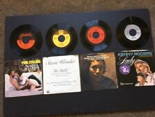 Vinyl Records: (45 rpm)  with Picture Sleeves - (Lot of 4)   # 1 Songs