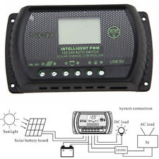 Lcd 30A Solar Panel Battery Regulator Charge Controller 12/24V Pwm one Usb Home