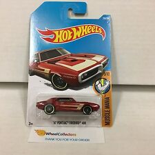 '67 Pontiac Firebird 400 #284 * RED * 2017 Hot Wheels Case M * D30