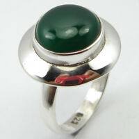 925 Sterling Silver Green GREEN ONYX Bestseller Ring Size 7.25 ! Fashion Jewelry