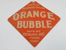 Orange Bubble Hekelnkaemper Soda Advertising Drink Sign Kansas Vintage 1930s