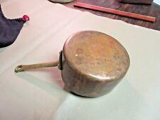 Vintage French Copper & Brass Sauce Pan-Old Pot-Paris Brocante-Kitchen