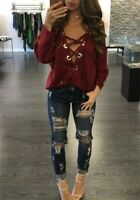 Pullover Casual Ladies Loose Top Fashion Long Sleeve Blouse Shirt Women T-Shirt