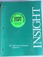 2001 Honda Insight Factory Service Repair Manual Dealership Workshop Supplement