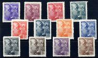 Sellos de España 1939 nº 867/878 General Franco sellos nuevos