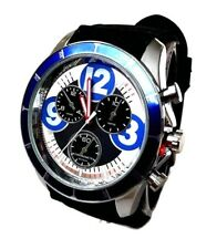 Men's Casual Watch MILANO MC43833 Black Silicone Band, Blue Case Sports Watch