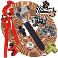 "Classic FORD SAE 3/8"" UNF 24 tpi 3/16"" Copper Brake Pipe Flaring Restoration Kit"