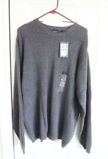 Arrow Men's Sweater Crew neck DARK GREY Sz XL EXTRA LARGE *NWT* RP$55.00