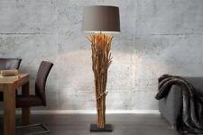 design Lampadaire 175cm Moderne Artistique fait à la main bois flotté toile