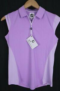 NWT FootJoy Womens sz XS 25492 Orchid Cap Sleeve Interlock Polo Shirt