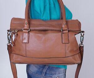 KATE SPADE Large Brown Leather Shoulder Hobo Tote Satchel Purse Bag