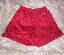 Vintage 80's Champion Spellout Red Basketball Shorts Nylon Medium Vtg Usa 32