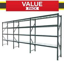 Warehouse Garage Shelving Racking 6m*2m*0.5m Metal Shelves MELBOURNE Delivery