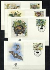 s3742) BULGARIA 1989  WWF, bats 4v FDC