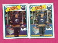 1988-89 OPC / TOPPS # 194 SABRES PIERRE TURGEON ROOKIE CARD (INV# D1618)