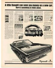1970 Plymouth FURY GRAN COUPE Nobody Makes it Like Plymouth VTG PRINT AD