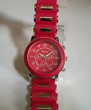 Designer Red Rubber Silicone Band Fashion Inspired Men's  Watch