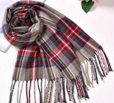 Luxury Pashmina Cashmere Wool Blend Unisex Shawl Wrap Tartan Plaid Long Scarves