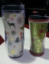 LOT OF 2: Starbucks Christmas Tumblers