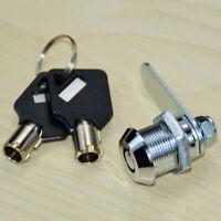 Safe Cam Cylinder Locks Tool Box Table File Drawer Desk Locker Set With 2 Keys