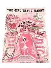 "Vintage ""The Girl That I Marry"" Sheet Music Dated 1946"