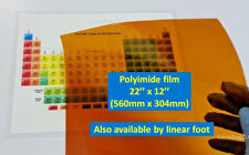 Polyimide Kapton Film 5mil. thick. Extra Wide  22'' x 12'' Avail. by linear foot