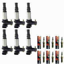 XP5263 Autolite Spark Plugs + Ignition Coils UF375 For 2004-10 Buick Cadillac
