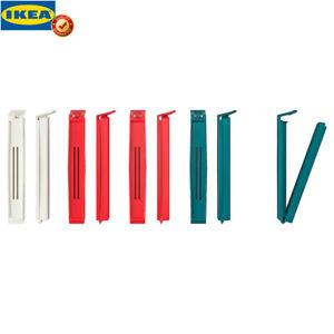 Original IKEA BEVARA 10 Stück Verschlussklemmen Verschlussclips Frischhalteclips