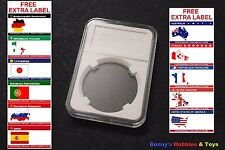 1 x New High Quality Coin Slab Holder (39mm) Display Case with Free Extra Label
