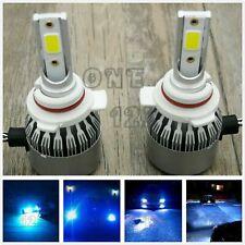 9012 HIR2 CREE LED Headlight Bulbs Conversion Kit High Low Beam 8000k ice blue