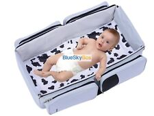 3-in-1 portable Bassinet Diaper Bag Tote Changing Station Plus 2 Bonus Blankets
