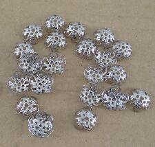 Lot de 50 calottes filigranes en métal argenté vieilli 10 mm coupelles-cals022
