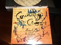COUNTING CROWS GROUP SIGNED AUGUST AND EVERYTHING AFTER CD COVER