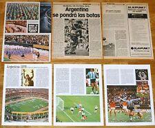 ARGENTINA 78 Mundial Fútbol 1978 clippings articulos prensa football magazine