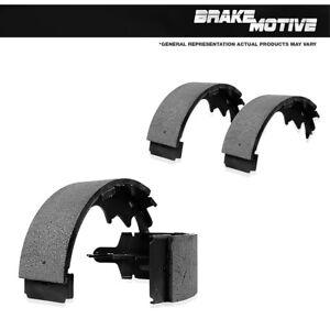 For Silverado Suburban Dodge Ford GMC Rear Semi-Metallic Parking Brake Shoes