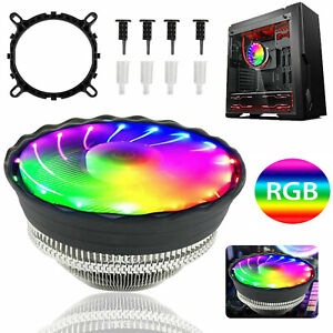 LED CPU Cooler Fan Heatsink For Intel 1156/1155/1151/1150 /775 AMD AM3+ AM2+ RGB