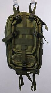 "NWOT OLIVE GREEN NYLON Backpack 9"" x 15"""