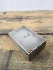 Pyrogène/boite d'allumette ancienne/grattoir/couronne/initiale/gravée